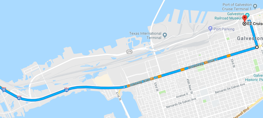 Galveston Cruise Parking Directions | EZ Cruise Parking on location and direction map, following directions map, directions to and from maps, google world map, giving directions map, directions on paper,